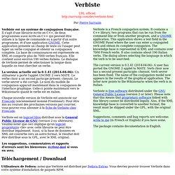 Verbiste - Un système de conjugaison française