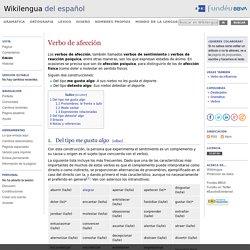 Verbo de afección - Wikilengua