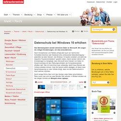 Datenschutz bei Windows 10 erhöhen - Verbraucherzentrale Nordrhein-Westfalen