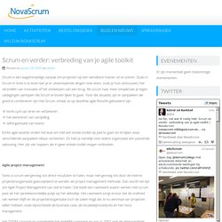 Scrum en verder: verbreding van je agile toolkit