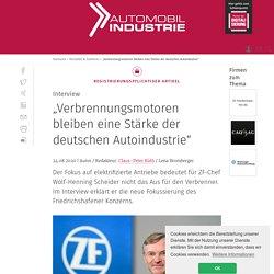 """""""Verbrennungsmotoren bleiben eine Stärke der deutschen Autoindustrie"""""""