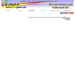 Verbs Games - present continuous tense