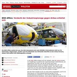 BND: Verdacht auf Industriespionage gegen Airbus erhärtet sich