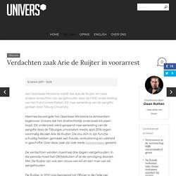 Verdachten zaak Arie de Ruijter in voorarrest