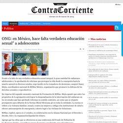 """ONG: en México, hace falta verdadera educación sexual"""" a adolescentes"""