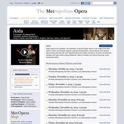 2014-15 Tickets - Metropolitan Opera
