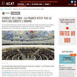 Verdict de l'ONU : La France n'est pas le pays des droits l'homme