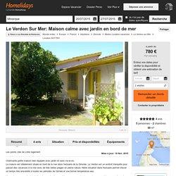 Le Verdon Sur Mer: Maison calme avec jardin en bord de mer - Médoc