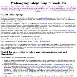 Verdrängung - Abspaltung - Dissoziation