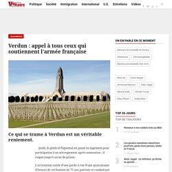 Verdun : appel à tous ceux qui soutiennent l'armée française