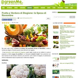 Frutta e Verdura di Stagione: la Spesa di Novembre