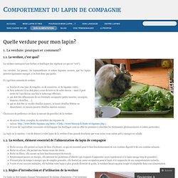 Quelle verdure pour mon lapin? « Comportement du lapin de compagnie