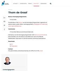Vereniging Hogescholen - Thom de Graaf