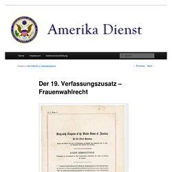 Der 19. Verfassungszusatz – Frauenwahlrecht