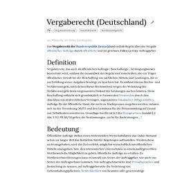 Vergaberecht (Deutschland)
