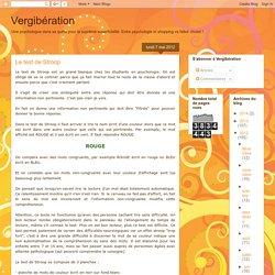 Vergibération: Le test de Stroop
