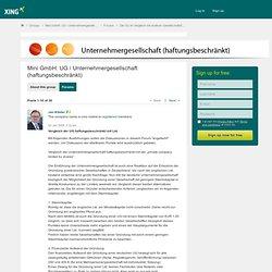 Vergleich der UG haftungsbeschränkt mit Ltd. - Mini GmbH: UG