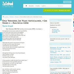 Emile Verhaeren, Les Villes tentaculaires, « Les Usines » - Analyse du poème
