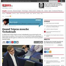Quand Tsipras mouche Verhofstadt