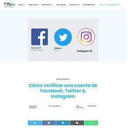 ✅ Cómo verificar una cuenta de Facebook, Twitter & Instagram
