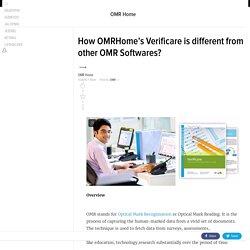 How OMRHome's Verificare is different from other OMR Softwares?