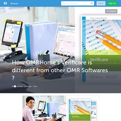 How OMRHome's Verificare is different from other OMR Softwares