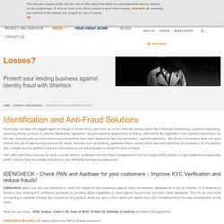 Manage Application Fraud