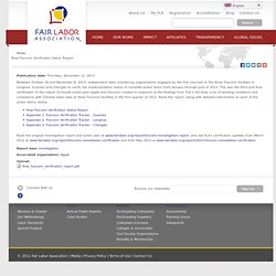 Final Foxconn Verification Status Report