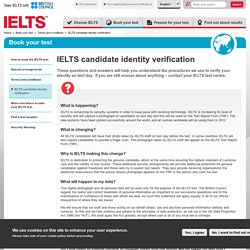 IELTS verification for a candidates identity