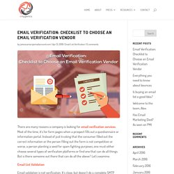 Email Verification: Checklist to Choose an Email Verification Vendor
