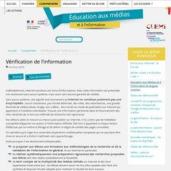 Vérification de l'information