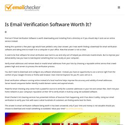 Email Verification Software, Is It Worth Downloading and Installing?