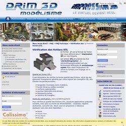 Vérification des fichiers STL - drim3d.com