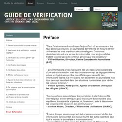 Guide de vérification de l'information
