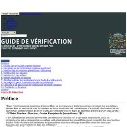 Manuel de vérification de l'information