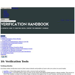 Verification Handbook: homepage