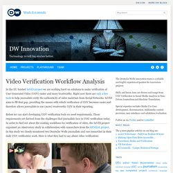 Video Verification Workflow Analysis - HOME - Innovation - DW.COM