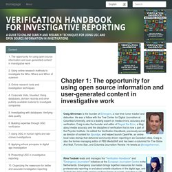 Verification Handbook for Investigative Reporting