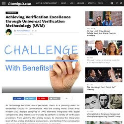 Achieving Verification Excellence through Universal Verification Methodology (UVM) - Examlysis