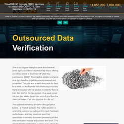 Best Outsourced Data Verification or Outsourcing Services