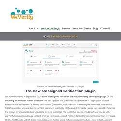 Verification plugin - WeVerify