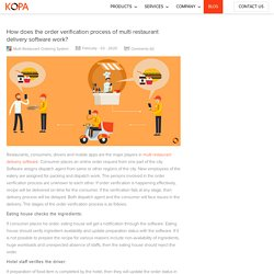 How does the order verification process of multi restaurant delivery software work