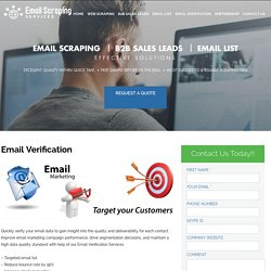 Email Scraping Services