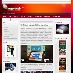 Verifiche on-line su pc, tablet e smartphone