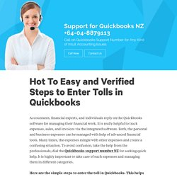 Hot To Easy and Verified Steps to Enter Tolls in Quickbooks