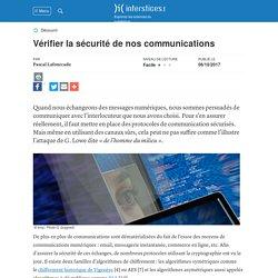 Vérifier la sécurité de nos communications