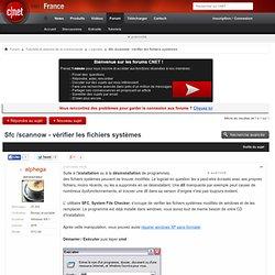 Sfc /scannow - vérifier les fichiers systèmes