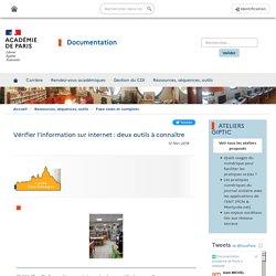 Vérifier l'information sur internet : deux outils à connaître
