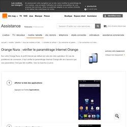 Nura : vérifier le paramétrage Internet Orange