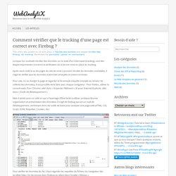 Comment vérifier que le tracking d'une page est correct avec Firebug ?